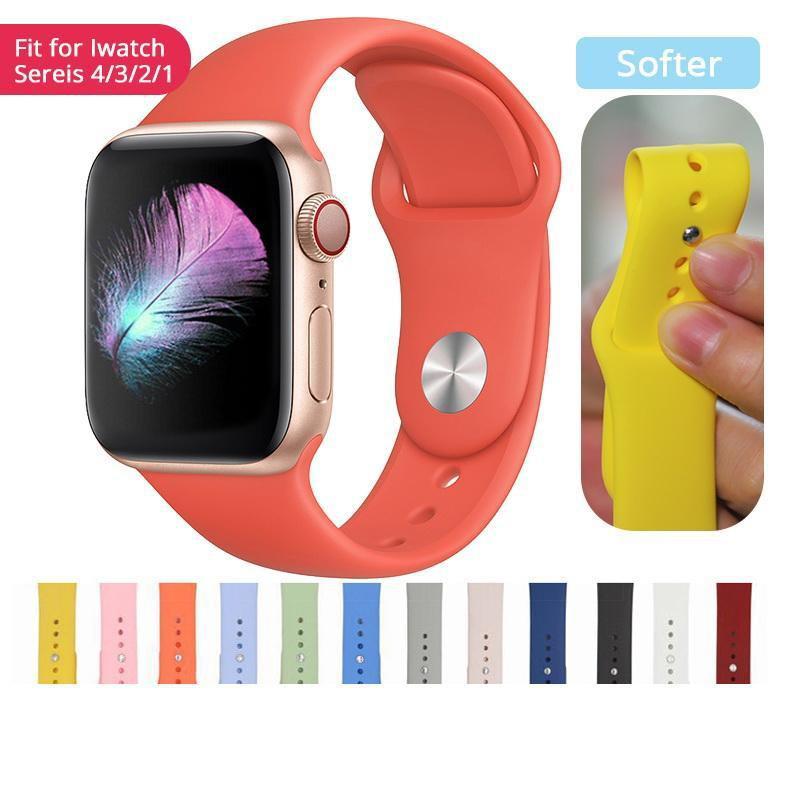 สายนาฬิกาข้อมือ สำหรับ Apple Watch Series6 5 4 3 2 1 ขนาด 38mm 40mm 42mm 44mm มม. starp band ระหว่าง วงดนตรี