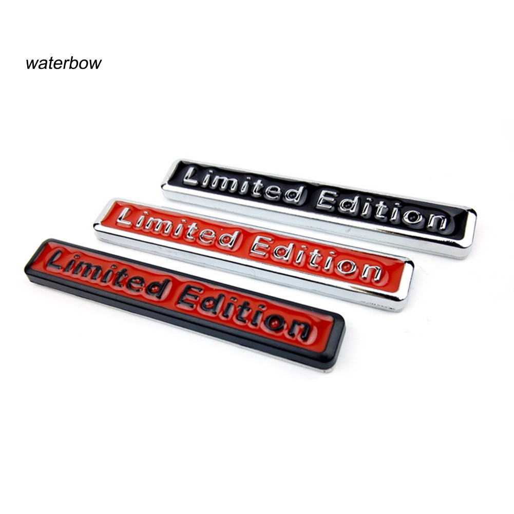 3D Metal Limited Edition Car Sticker Badge Decal Motorcycle Emblem 6.5*1*0.5cm