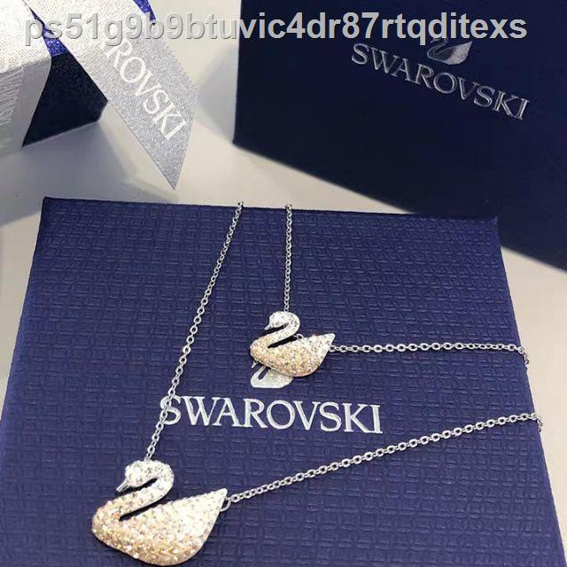 ☇【SALE】🔥พร้อมส่ง🔥Swarovskiแท้ สร้อย swarovski ของแท้ 100% สร้อยคอจี้หงส์ necklace แท้ Classic Swan Series หลากหลายส