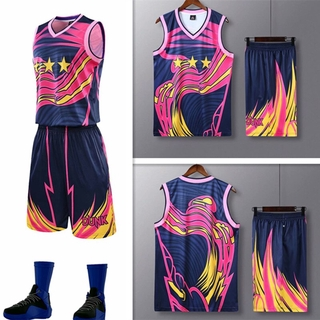 Throwback Basketball Jersey Set Men Tracksuits Camouflage basketball Uniforms Training Shirts Shorts Sports Kit Personal