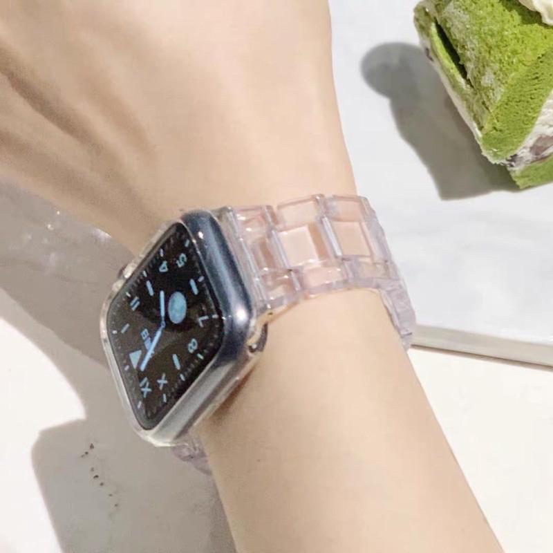 สาย applewatch แท้ สาย applewatch อะไหล่สายsmart watchมีขนาด38-40mm/42-44mm แบบใสโชว์ตัวเรือนสวยงามมาก