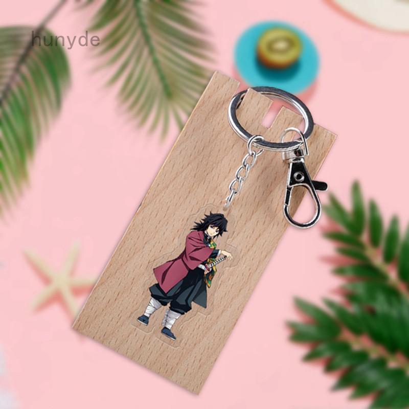Yilidali 【】Anime Demon Slayer: Kimetsu No Yaiba Keychain Cartoon Figure Model Acrylic Key Ring