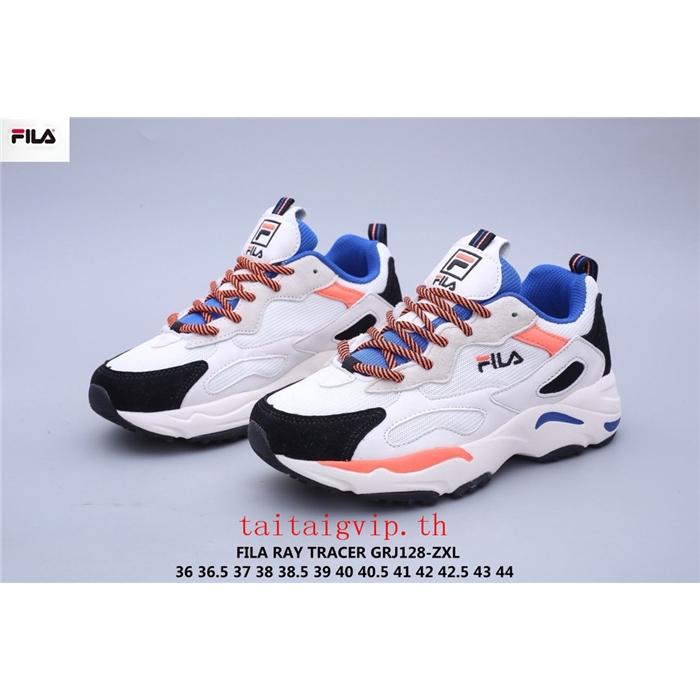 💯ของแท้ FILA RAY TRACER รองเท้าผู้ชายและผู้หญิง รองเท้าวิ่ง รองเท้ากิฬา รองเท้าแฟชั่น