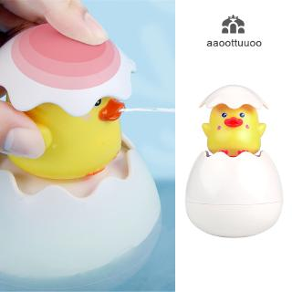 Baby Bathing Toy Kids Cute Duck Penguin Egg Water Spray Sprinkler Bathroom Sprinkling Shower Swimming Water