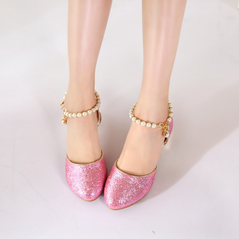 shoe14181 รองเท้าคัชชูเด็กสีชมพู รองเท้าคัชชูเด็กเล็ก รองเท้าคัชชูเด็กโต (ยาว=ความยาวพื้นในรองเท้า) รองเท้าออกงานเด็ก
