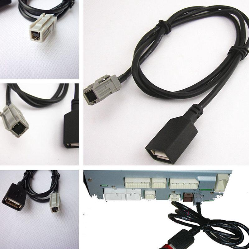 For Toyota Camry RAV4 Corolla Lexus Yaris AUX USB MP3 Audio Input Cable  Adapter