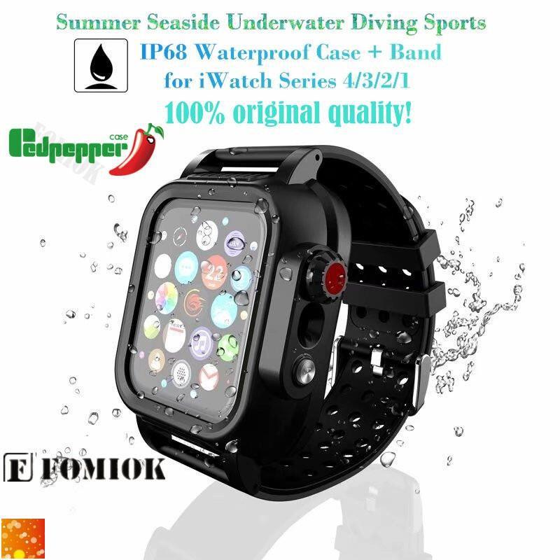 เคสนาฬิกาข้อมืออัจฉริยะกันน้ําสําหรับ Apple Watch Series Se 6/5/4/3/2/1 Strap/band Ip68 Iwatch 44/40/42/38mm 11512902