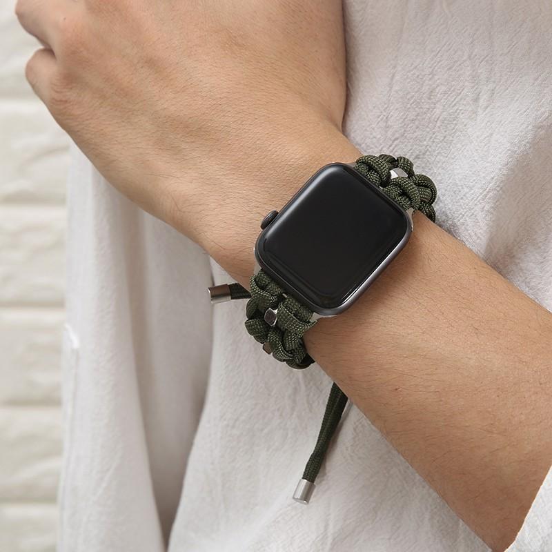 สายเชือกไนล่อน แบบถัก สําหรับ Apple Watch