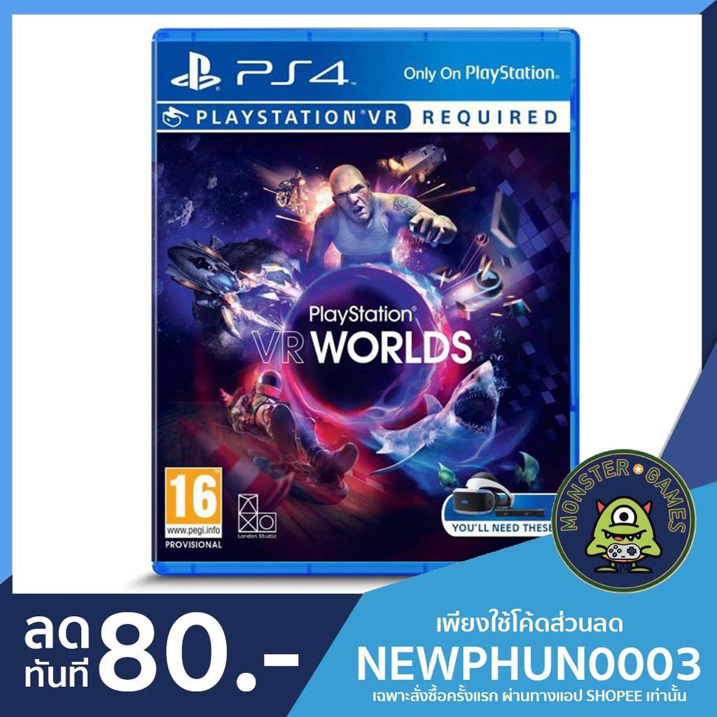 Playstation VR Worlds Ps4 แผ่นแท้มือ1!!!!! (Ps4 games)(Ps4 game)(เกมส์ Ps.4)(แผ่นเกมส์Ps4)(VR Worlds Ps4)