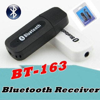 ตัวรับสัญญาณบลูทูธ BT-163 Wireless Bluetooth 3.5 mm AUX Audio Stereo Music Home Car Receiver Adapter Mic