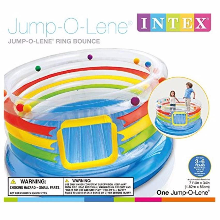 INTEX – BABY TRAMPOLINES – JUMP-O-LENE TRANSPARENT RING BOUNCE (854428)