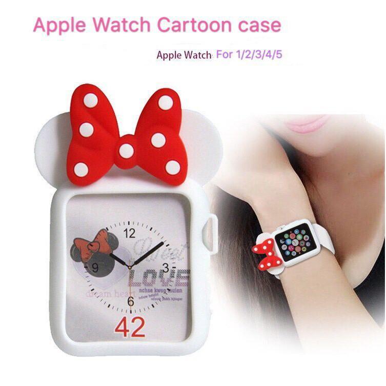 เคส Apple watch 5 4 3 2 1 series กรณีการ์ตูนมินนี่ case iWatch For ขนาด 38 40 42 44 mm