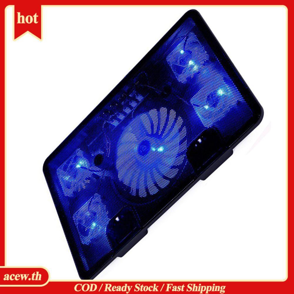 ( Yes ! ! ) พัดลมระบายความร้อน 5 Fan 2 Usb Led สําหรับ Laptop Pc Video 10-17 นิ้ว # Cod #