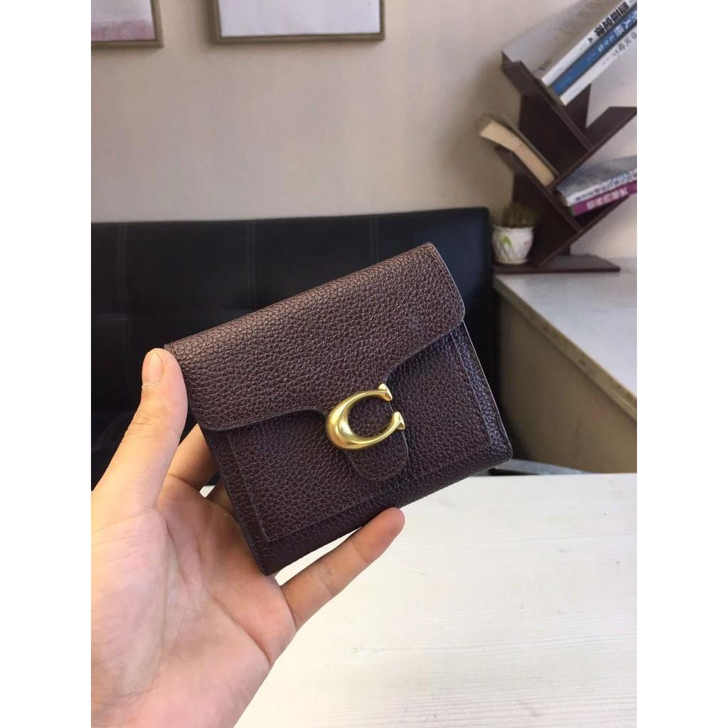 กระเป๋าเป้♂☬New Coach 31548 76292 76302 76527 กระเป๋าสตางค์สามพับของแท้ผู้หญิง กระเป๋าสตางค์ใบสั้นทรงคลาสสิค กระเป๋าใส่เ