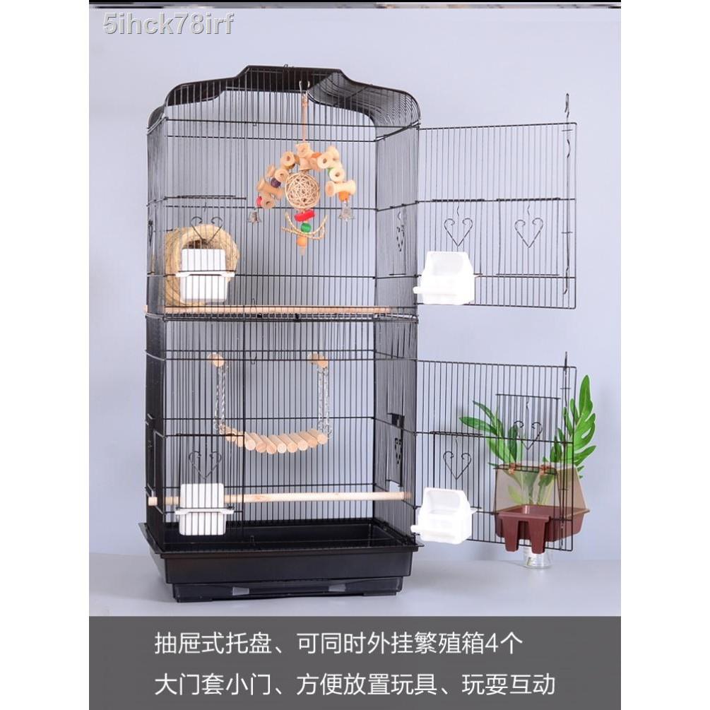 กรงนกสี่เหลี่ยม∋Tiger skin oversized Monk Parrot กล่องเพาะพันธุ์นกกรงหัวจุก Douyin ดูวิลล่ารูปดอกโบตั๋นทรงสี่เหลี่ยมจับ