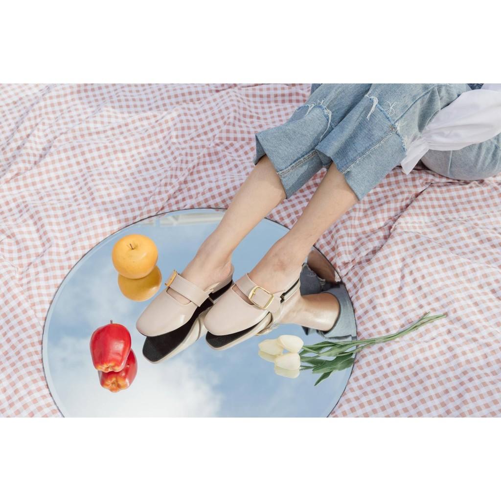( ( ( Kkเข็มขัดทอง*สีครีม ) ) )*สวยมากคะ*อย่าลืม+size*ทรงรองเท้าเล็ก*ความสูงประมาน1cm.