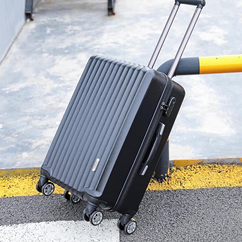 """กระเป๋าเดินทางกระเป๋าเดินทางหนาทนทานสำหรับผู้ชาย28-กระเป๋าเดินทางสไตล์Lockbox24""""ของผู้หญิง20-นิ้ว"""