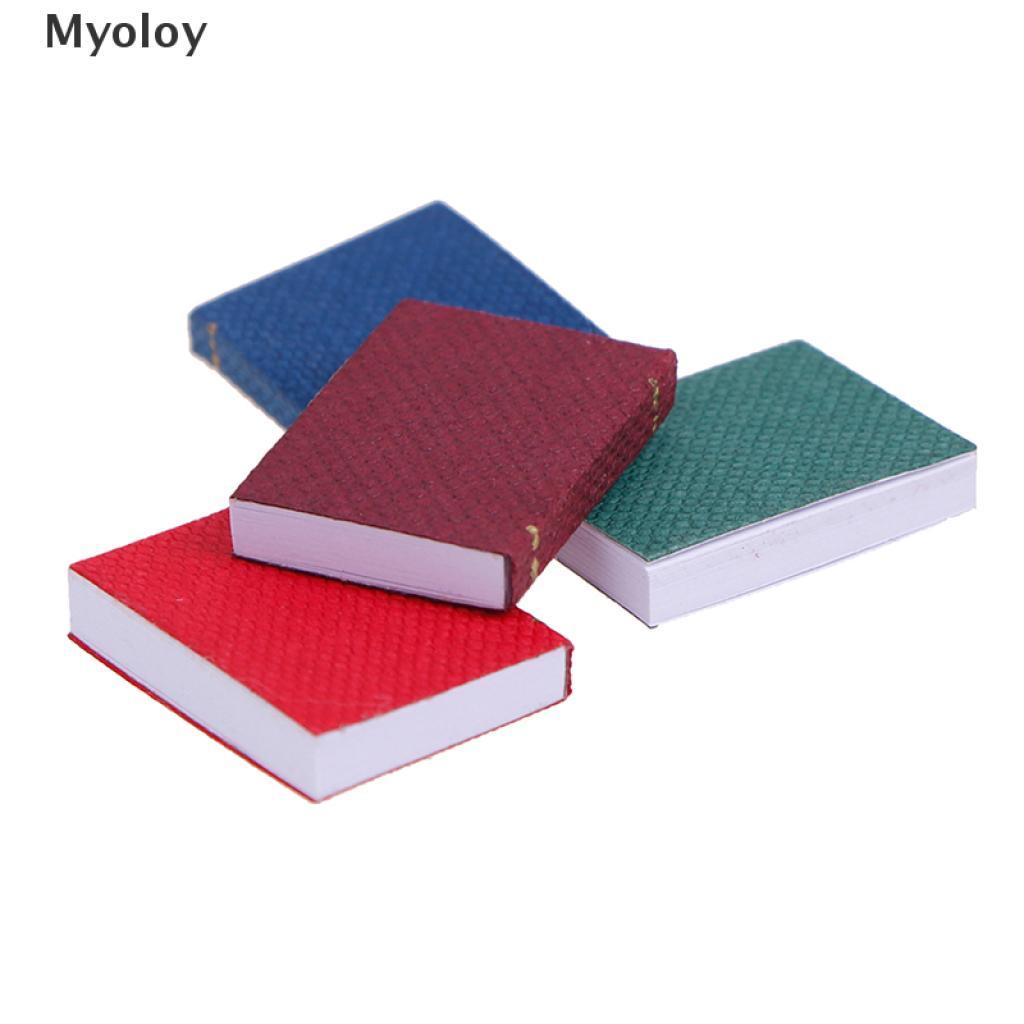Myoloy 4pcs/set 1/12 Dollhouse Miniature Mini Books Model Furniture Accessories TH