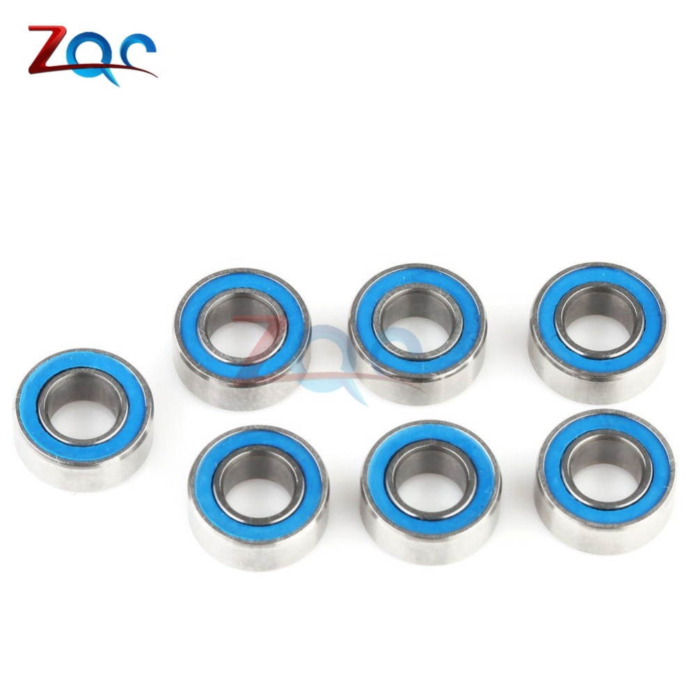 10PCS Miniature ball Bearings with blue Plastic cover 5*10*4mm MR105-2RS NEW