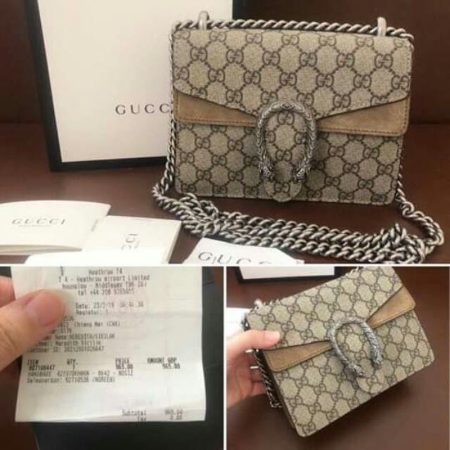 กระเป๋าแบรนด์ GUCCI dionysus mini 2019   สั่งซื้อแอด🆔Line: aisha_tookta