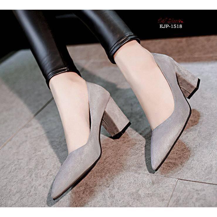 📣🔥💥❆❃✨ คัชชูหัวแหลมส้นสูงผู้หญิง รองเท้าส้นสูงแฟชั่นขายดี รองเท้าคัชชูส้นสูง 3 นิ้ว สีเทา / สีดำ / สีแดง ✨