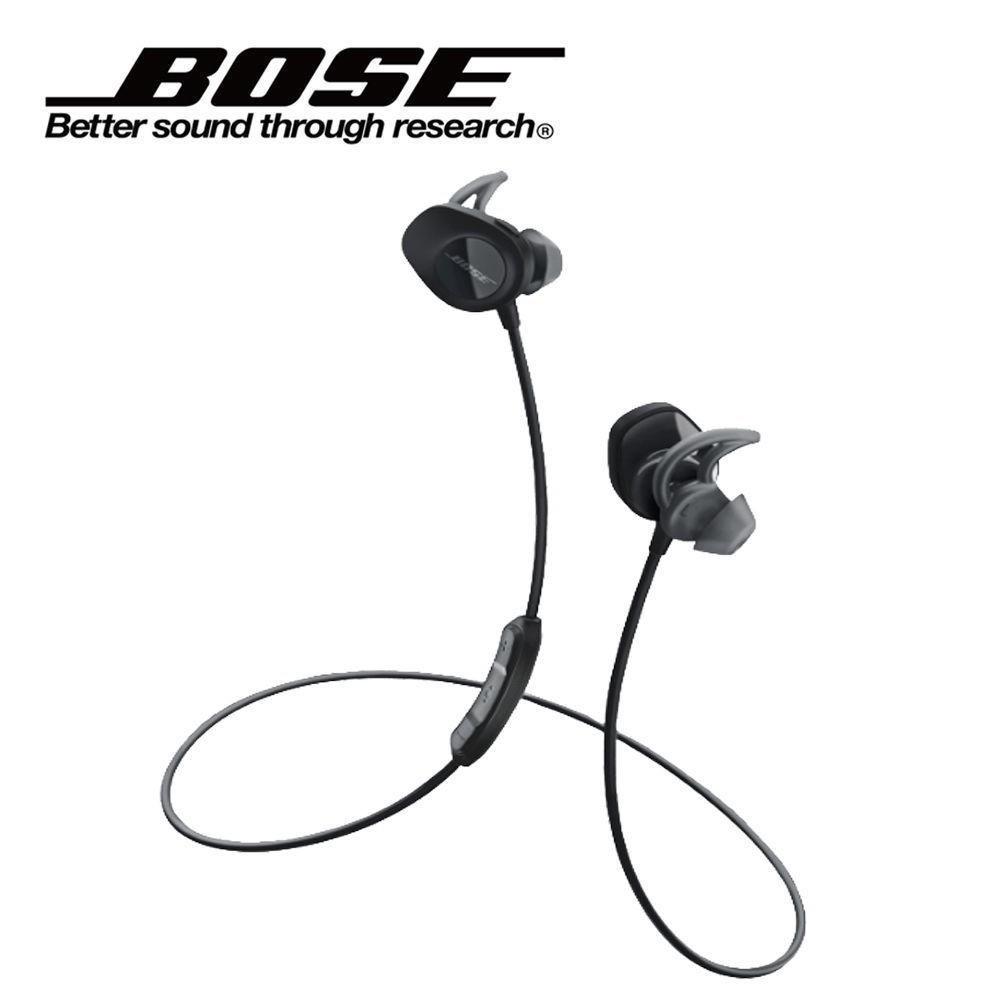 หูฟังบลูทูธไร้สายบลูทูธสีดำสำหรับเล่นกีฬา BOSE SOUNDSPORT WIRELESS  HEADPHONES (BLACK)
