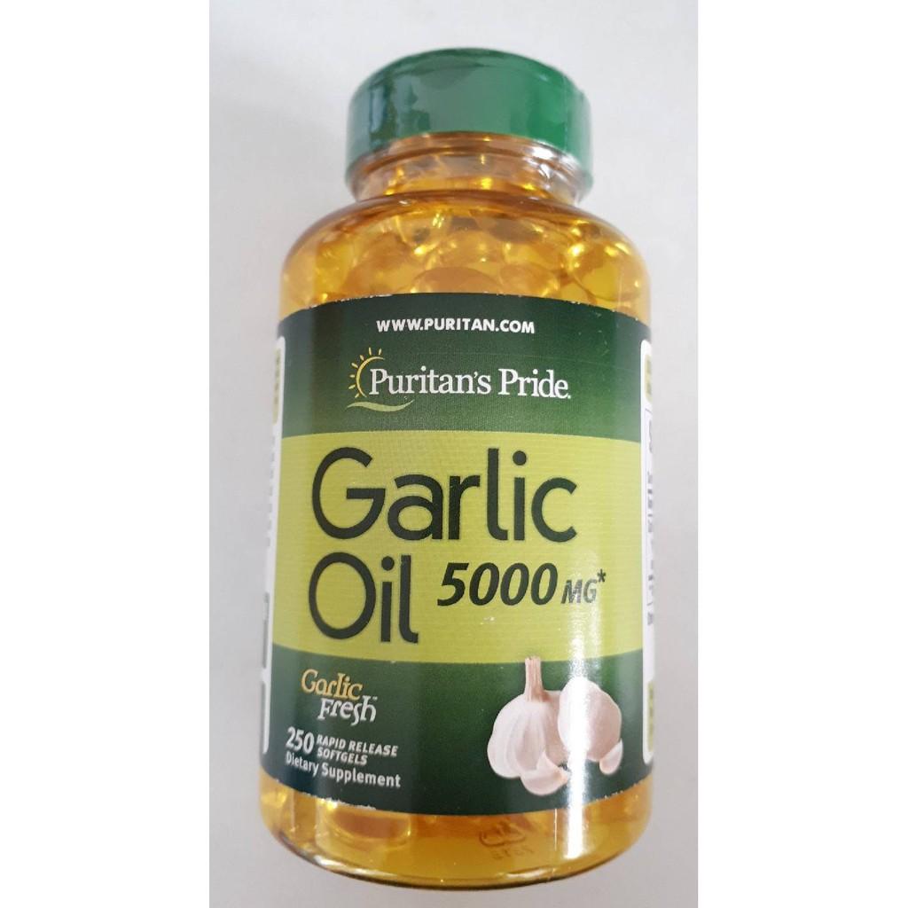 Puritan Odorless Garlic Oil 5000 mg 250 softgels น้ำมันกระเทียม สารสกัดจากกระเทียม ในรูปแบบแคปซูลนิ่ม
