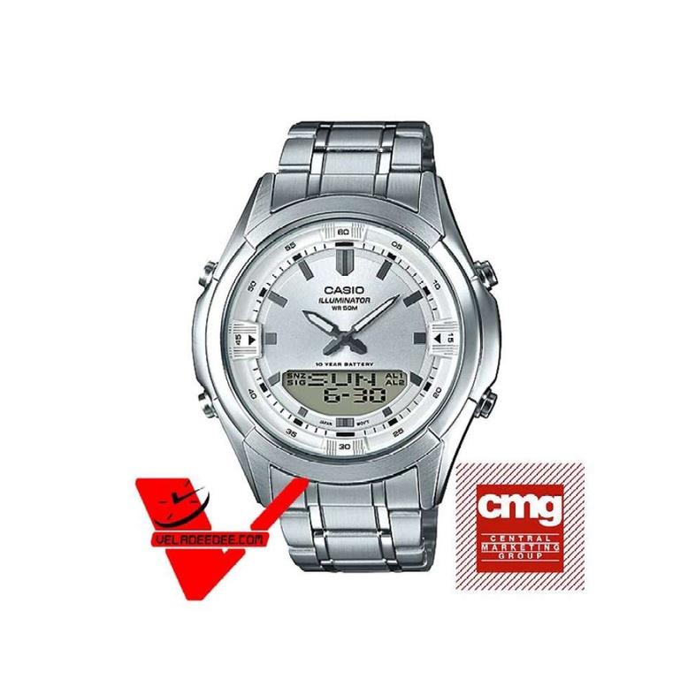 Veladeedee นาฬิกา Casio Standard นาฬิกาข้อมือชาย สายสแตนเลส (ประกันCMG) รุ่น AMW-840D-7AV