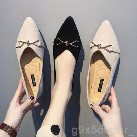 รองเท้าคัชชูหัวแหลมผู้หญิงสไตล์ใหม่แฟชั่นเกาหลีลำลอง