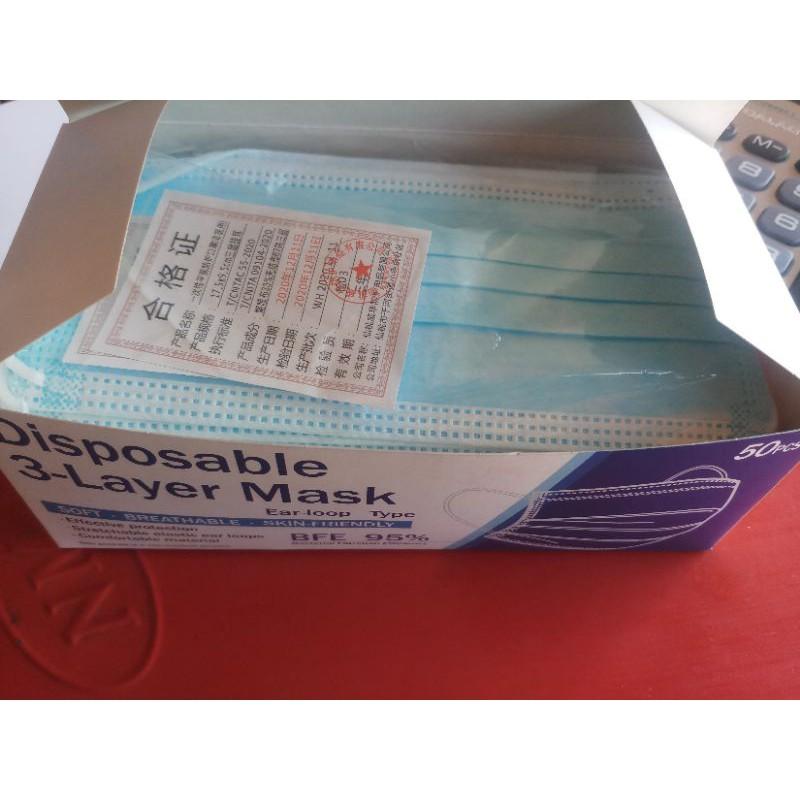 หน้ากากอนามัยยกลัง1ลัง50กล่องมีของพร้อมส่ง*มีกล่อง แมสส่งด่วนkerry