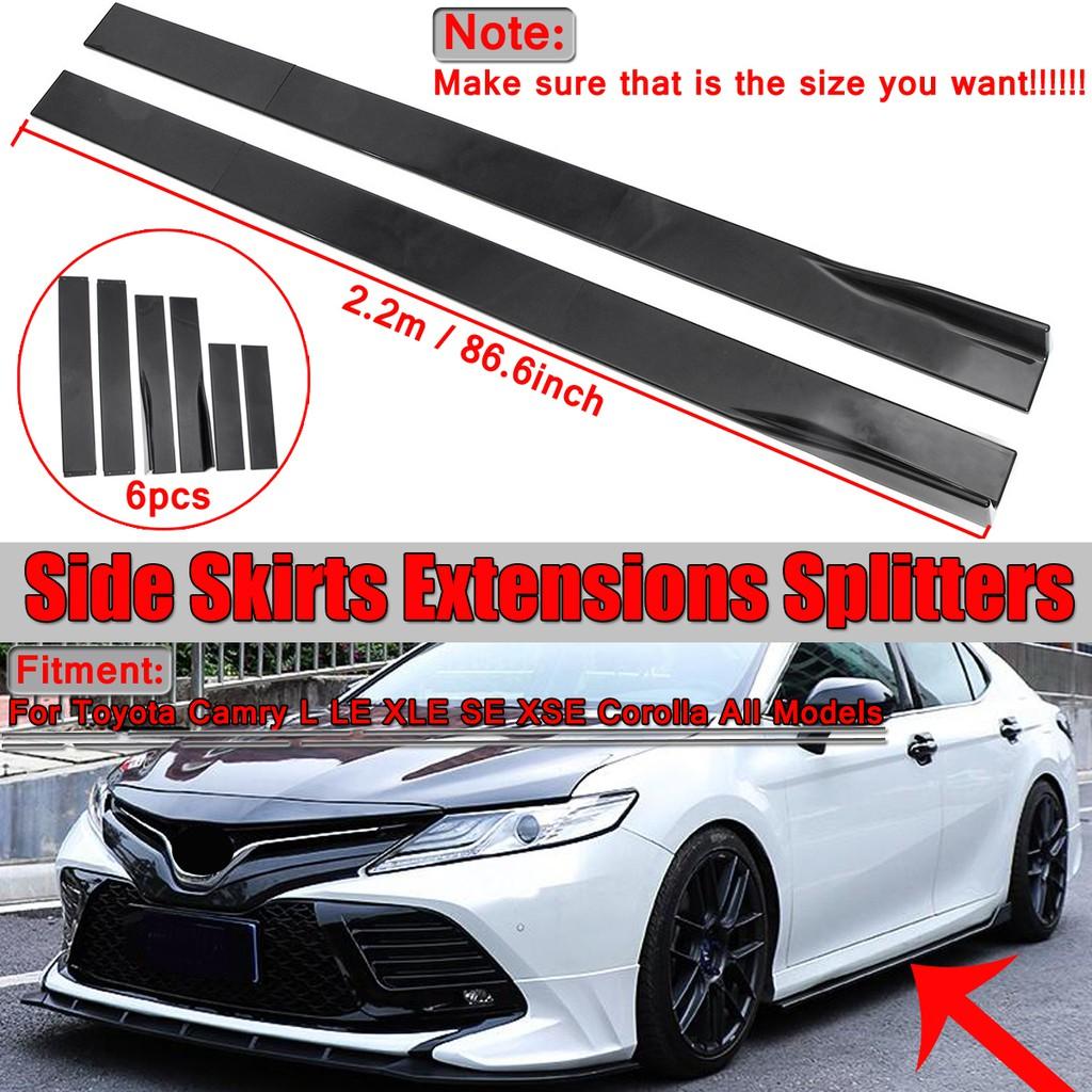 ส่วนต่อขยายสเกิร์ตข้าง 2.2M สำหรับ Toyota HILUX Yaris Fortuner C-HR