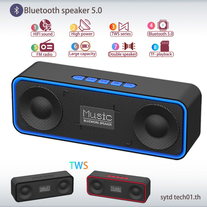 NEW Mini LED Portable MP3 Speaker TF USB Music Sound Subwoofer Wireless Outdoor