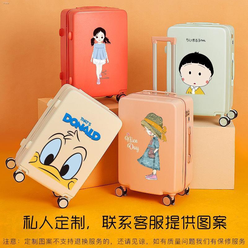 ♠กระเป๋าใส่รถเข็นดาราดังในกระเป๋านักเรียนสดขนาดเล็กกระเป๋าเดินทางหญิงน่ารักกระเป๋าเดินทาง 20 นิ้ว 22 ใบ 24 สีลูกกวาด