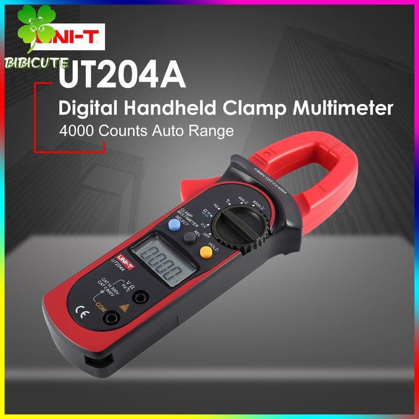 UNI-T ( Pro ) Uni - T Ut 204 A ดิจิตอลมัลติมิเตอร์ Clamp Ac / Ac Volmeter