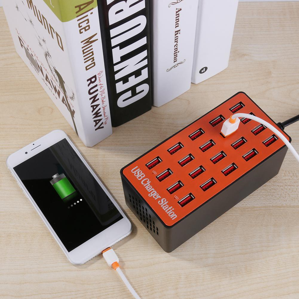 Universal 20 Ports 100W USB Hub Smart Charger High Power Fast Charging Station