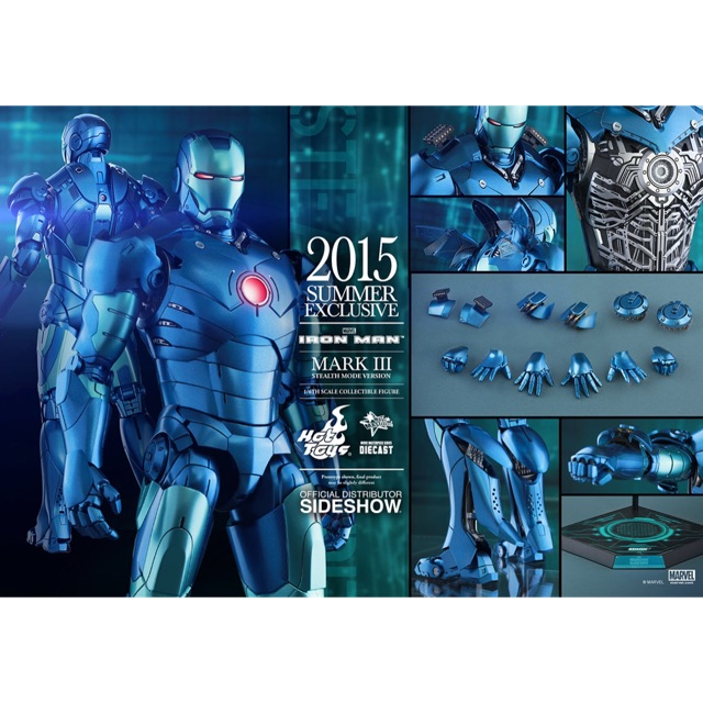 Hot Toys Iron Man: MKIII Stealth Mode Version (Diecast) 1/6 New