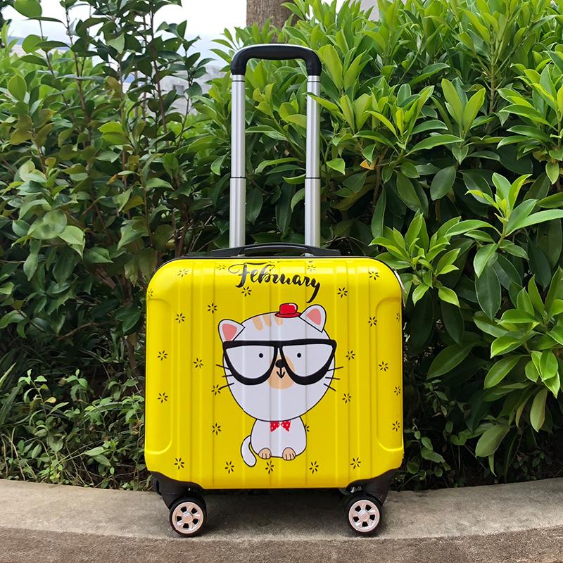 ☧ジ กระเป๋าเดินทาง  เคสรถเข็นเด็กกระเป๋าเดินทาง น่ารักกระเป๋าเดินทางขนาดเล็ก18นิ้วกระเป๋าเดินทางล้อสากล16นิ้วมินิตัวถังกา