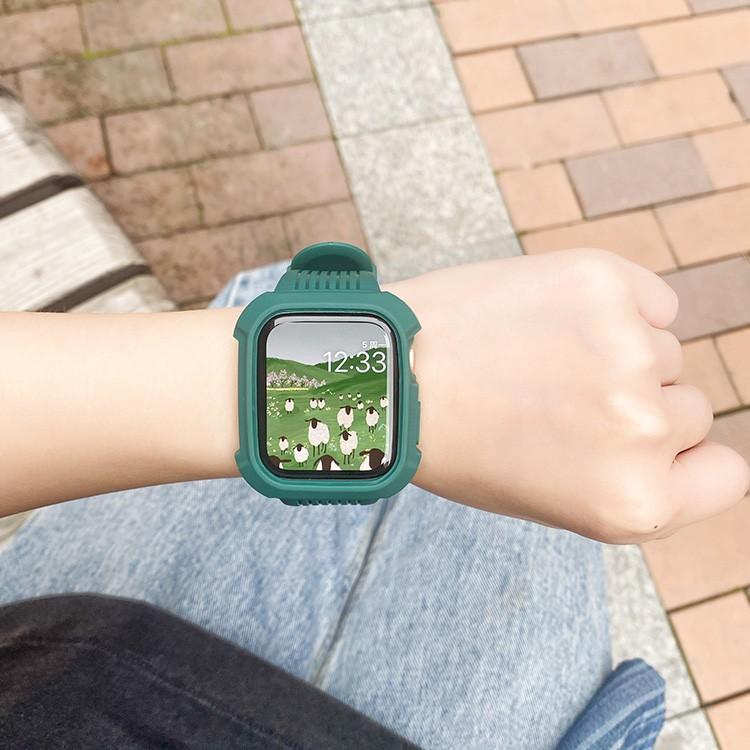 สาย applewatchHanzhong Black Samurai Frosted รวมทุกอย่างสาย Applewatch สายนาฬิกา Apple สายรัด iwatch 1/2/3/4/5/6 / SE ร