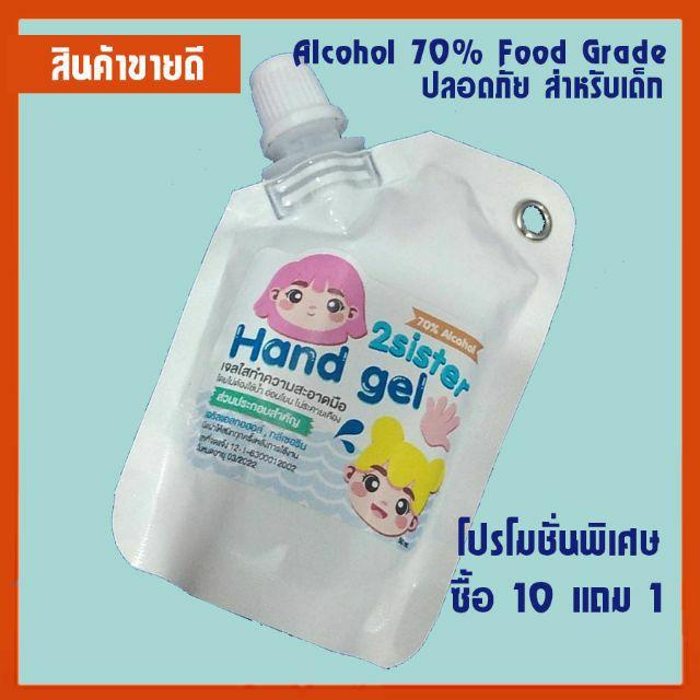 เจลล้างมือ เจลล้างมือพกพา ขนาด 50 ml. เพิ่มปริมาณ!!! สุดคุ้ม!!!