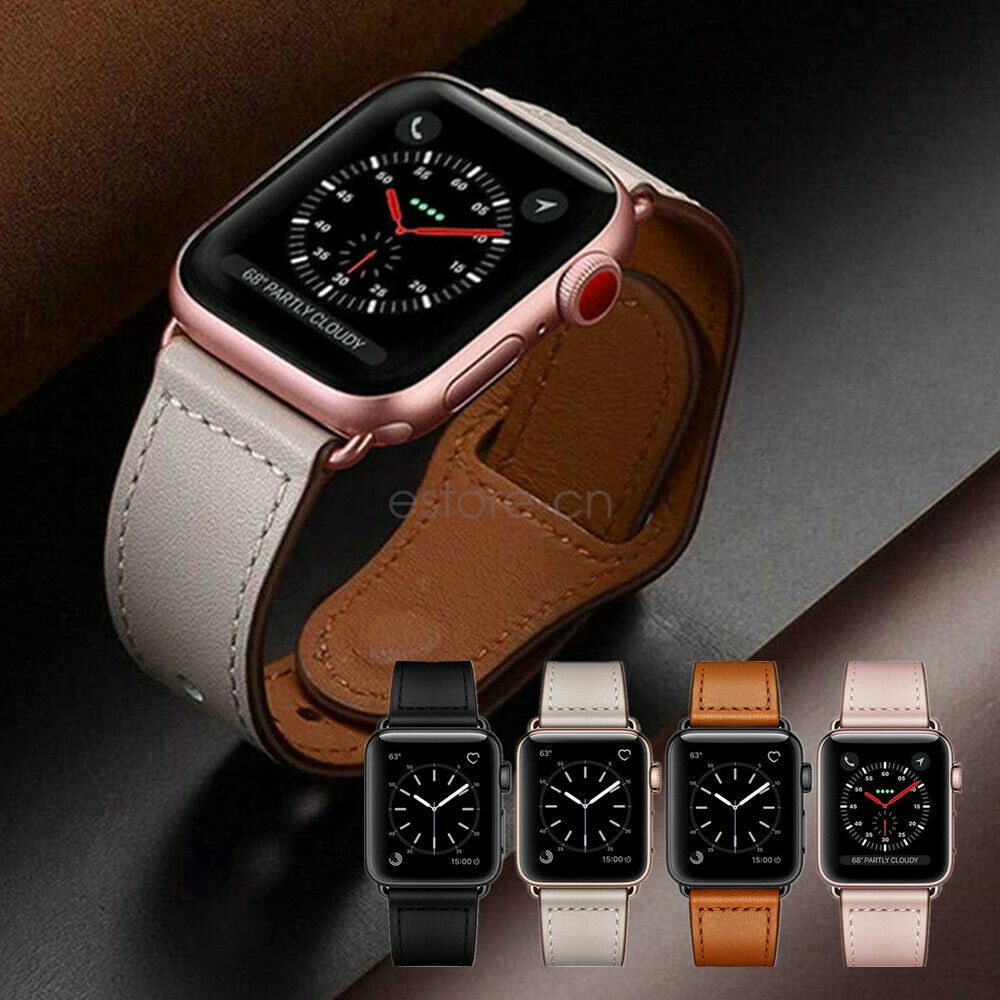 Apple Watch Band 40/44mm Genuine Leather Watch Strap Series 5 4 3 2 38/42mm