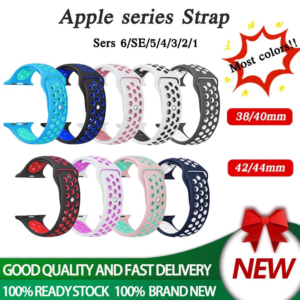 สาย applewatch สายนาฬิกา Apple Watch เคส applewatch series 6 5 4 3 2 1 SE 38mm 40mm สาย apple watch Silicone Sport NIKE