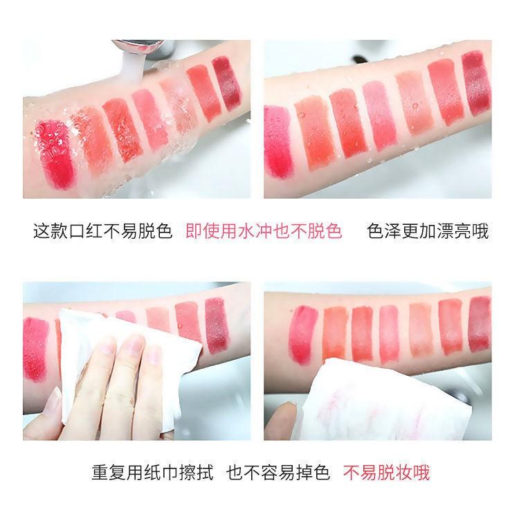 ลิปสติก Dior₪Dior Yafei Lipstick Big-brand Famous Brand 999 Waterproof Non-fading Non-stick Cup Student Party Plain Vale
