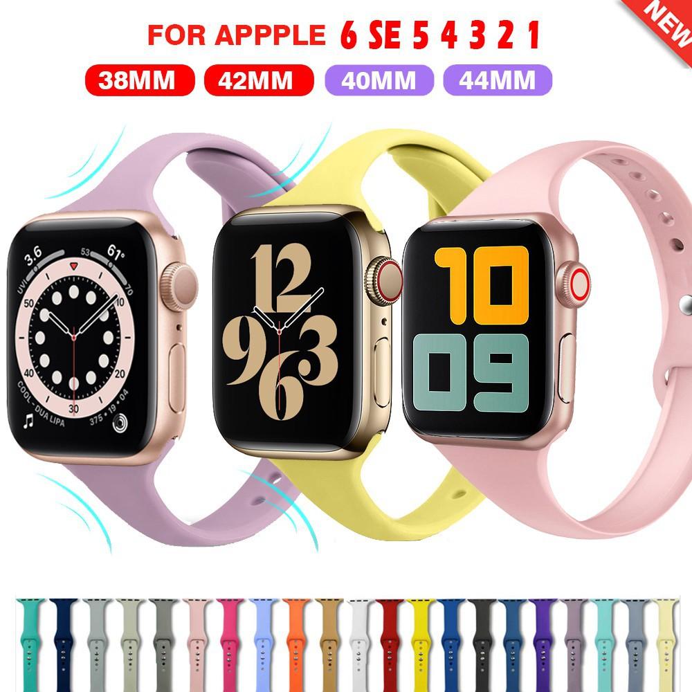 สาย applewatch สายนาฬิกา applewatch สายนาฬิกาข้อมือ สำหรับ Apple Watch Series SE 6 5 4 3 2 1 ขนาด 38 มม 40 มม 42 มม 44 ม