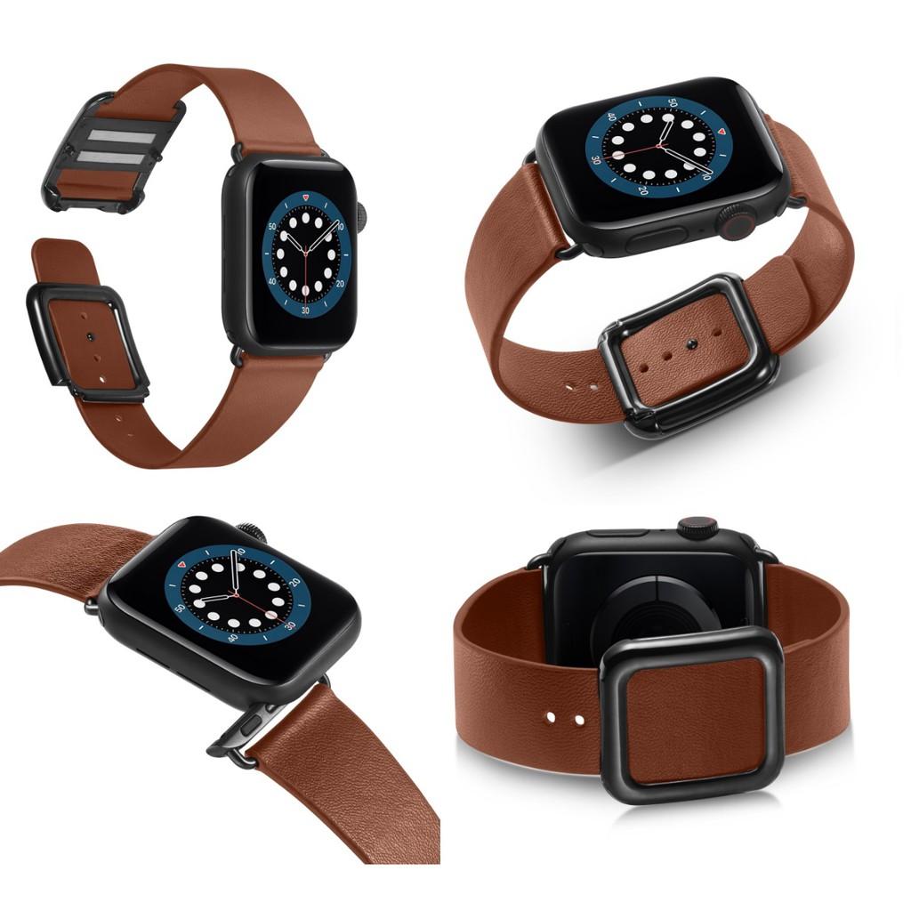 สายนาฬิกา Apple Watch Straps เหล็กกล้าไร้สนิม แม่เหล็ก กระดุม สาย Applewatch Series 6 5 4 3 สาย Apple watch Strap Leathe