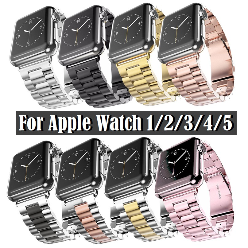 สาย Applewatch เหล็กกล้า สายนาฬิกา Apple watch Series 6 5 4 3 2 1,Apple Watch SE Strap Stainless Steel Watch band Apple