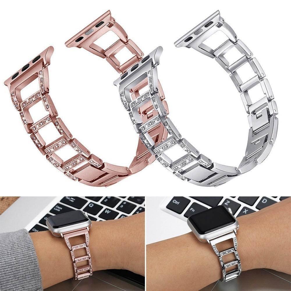 สร้อยข้อมือสแตนเลสแฟชั่น iWatch Band Strap สำหรับ Apple Watch Series 3 2 1 38/40/42/44 MM
