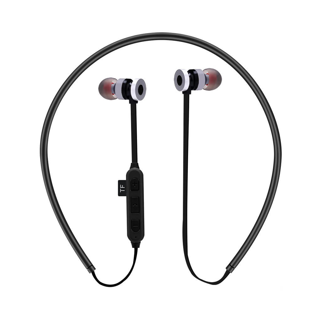 f360b8faede ST-K2 In-ear Magnetic Wireless Bluetooth 4.2 Stereo Headphone with Mic  Support TF Card for iPhone Samsung - Red