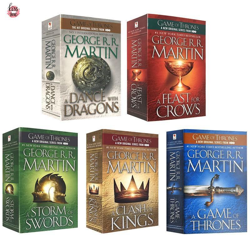 Hot Books A Song Of Ice And Fire Series 5 หนังสือภาษาอังกฤษสําหรับเด็ก