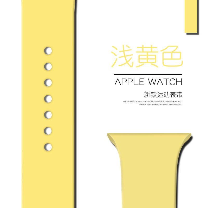 💥 สาย applewatch 🔥 เหมาะสำหรับ Applewatch สายนาฬิกา Apple se ซิลิโคน iwatch 6/5/4 สายตัวแทน 38/42/40/44