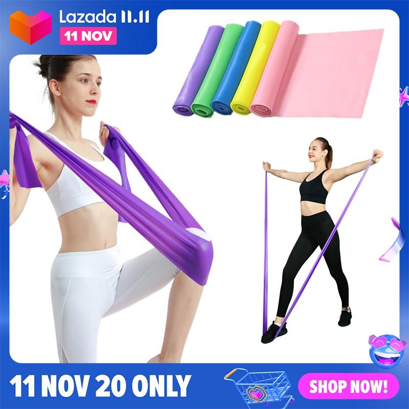 ﹍☬❣ยางยืดออกกำลัง ยางยืดโยคะ ยางยืด ออกกำลังกาย โยคะ สายยาง Pull Strap ยางยืดสายออกกำลังกาย อุปกรณ์โยคะ ผ้ายางยืดสำหรั